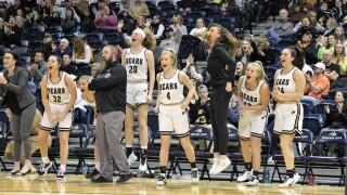 Billings West girls basketball bench