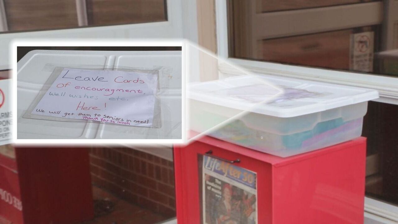 Box in front of the Colorado Springs Senior Center where folks can drop off notes of encouragement
