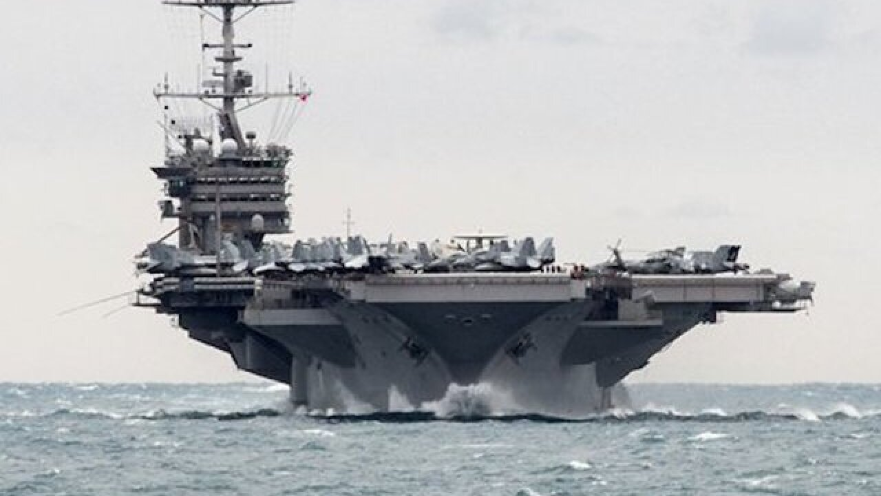 US accuses Iran of testing rockets near warships