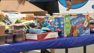 Virginia Beach residents donated food for disadvantaged students in the Beach Bags Food Drive