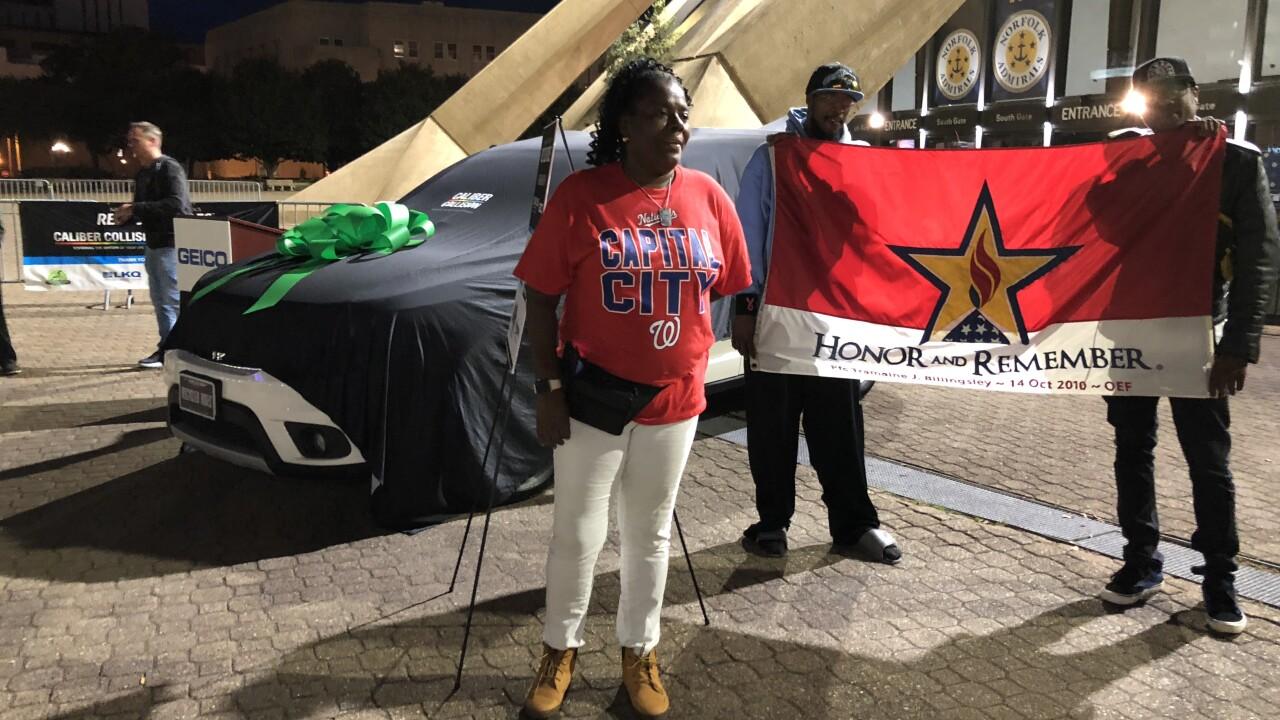 Local Gold Star Mother surprised with new car during Admiralsgame