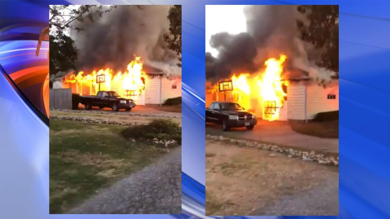Mother and son displaced after house fire in Hampton