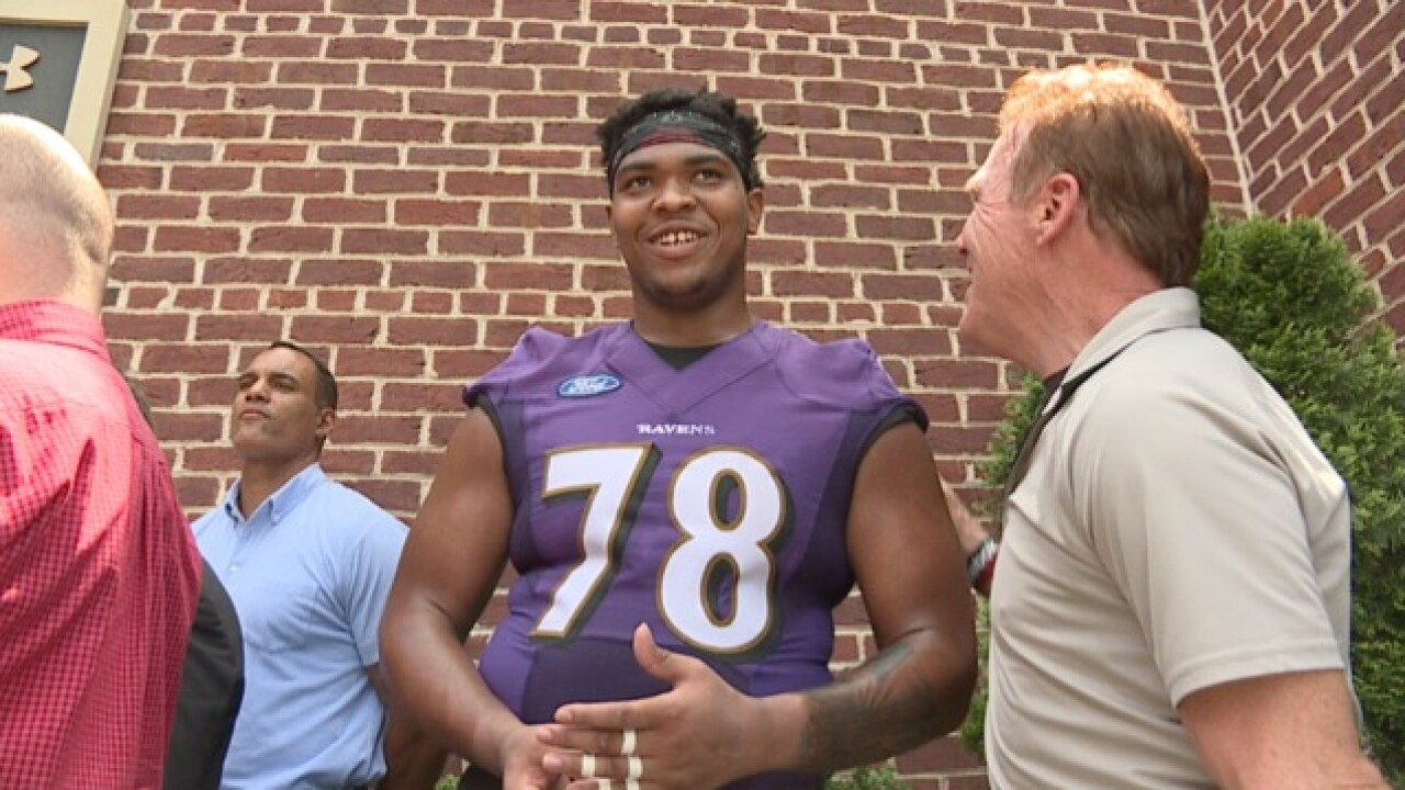 Orlando Brown Jr. comes home to Ravens, wants to carry on late father's legacy