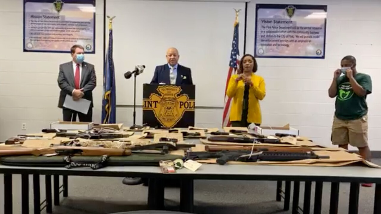City of Flint will destroy guns seized by police instead of auctioning them