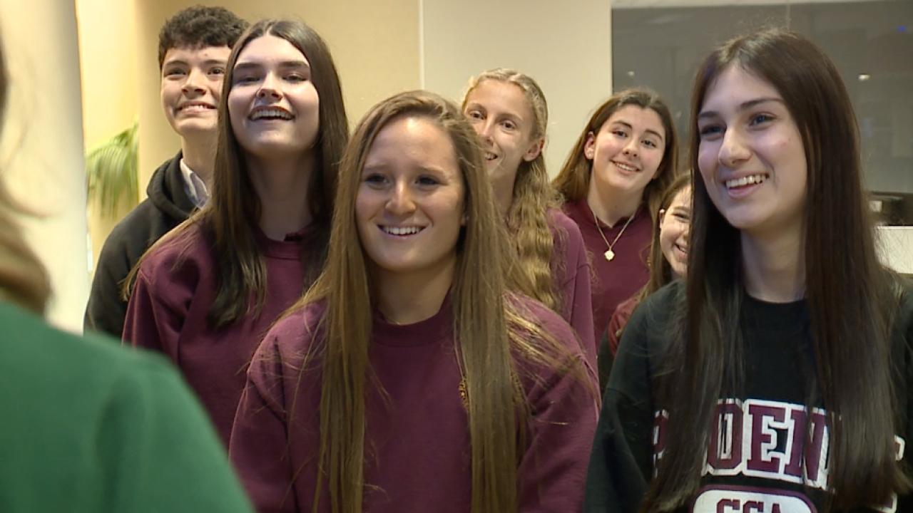 Brooks DeBartolo Collegiate High School students at ABC Action News