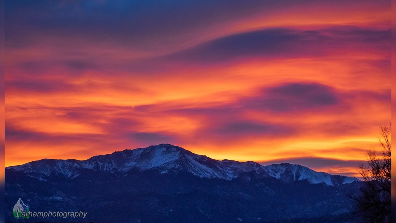 Pikes Peak Sunset from Vista Grande Neighborhood Rob Parham.jpg
