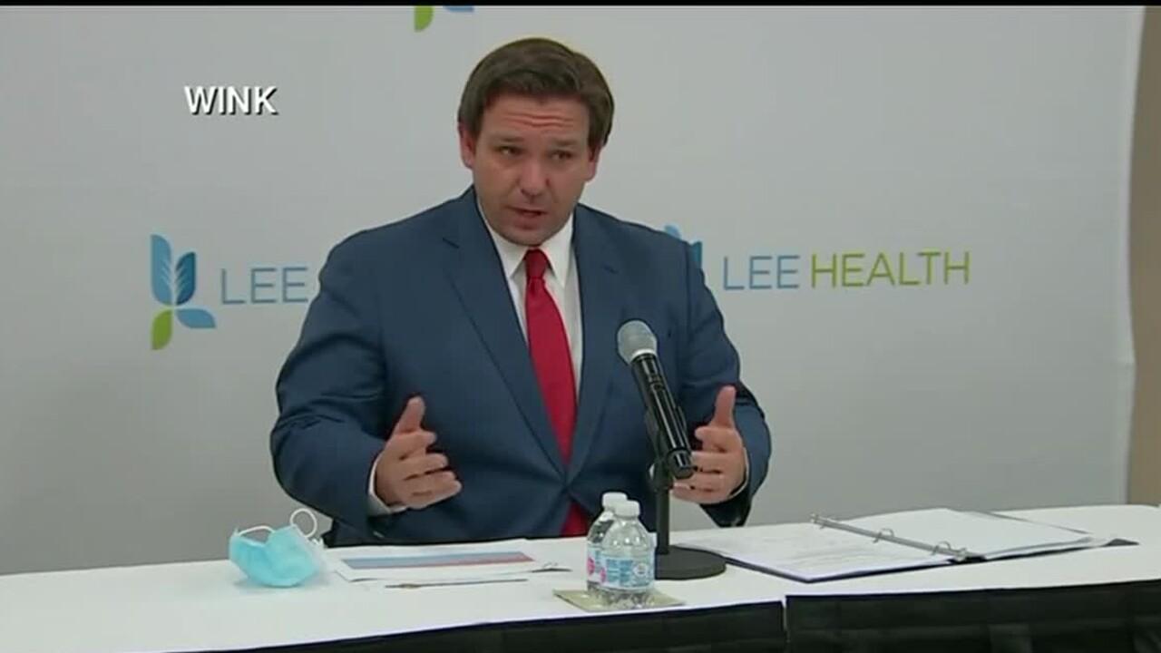 Gov. Ron DeSantis speaks at Lee Health, June 26, 2020