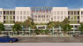 Delray Beach Market front view rendering