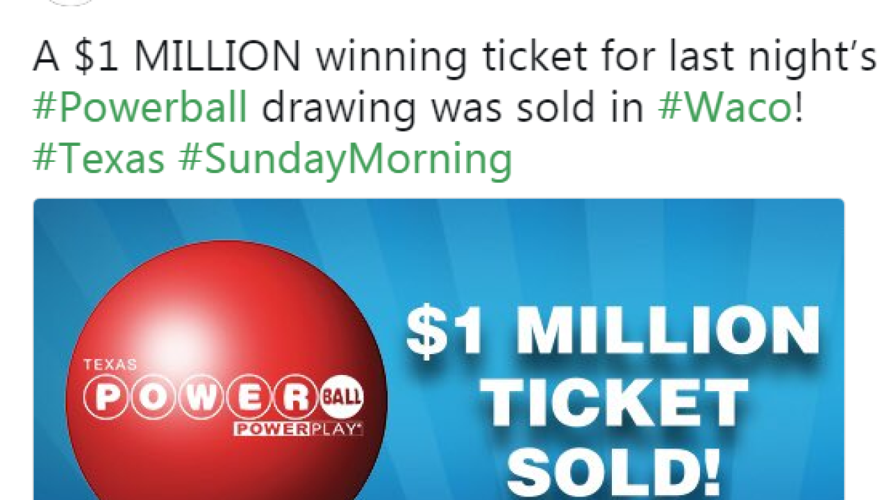 1 Million Lottery Ticket Sold In Waco