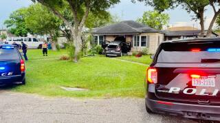 SUV hits a home in Bishop, Texas
