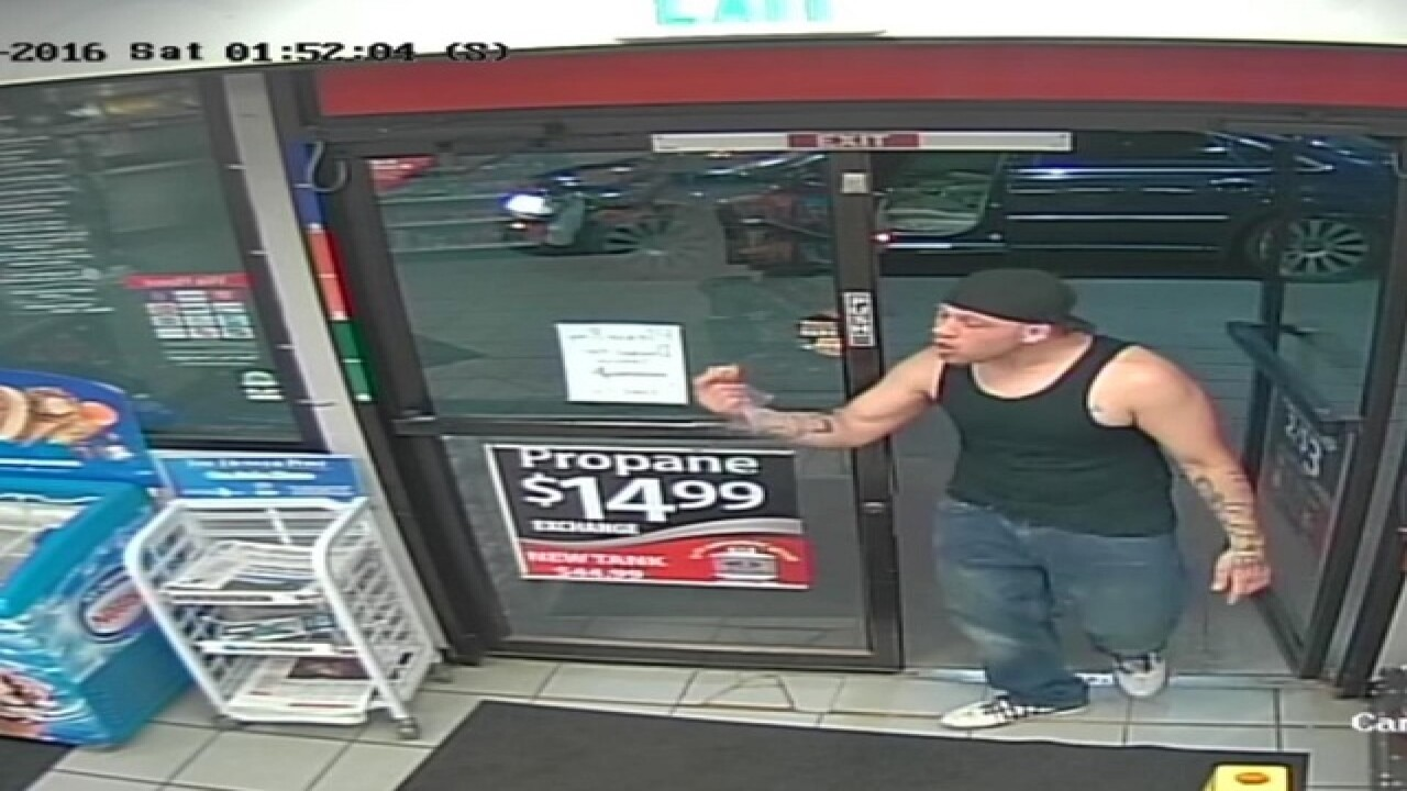 Man drags, kidnaps woman from gas station