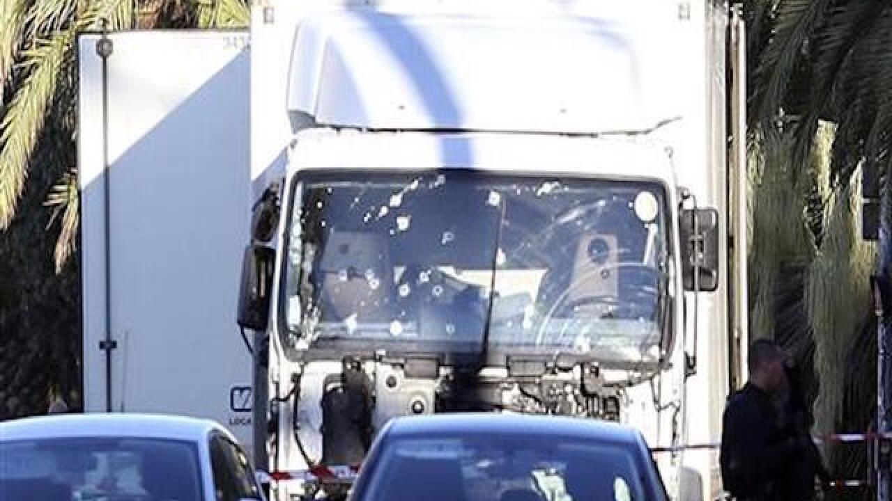 Truck crashes into crowd in Nice, France