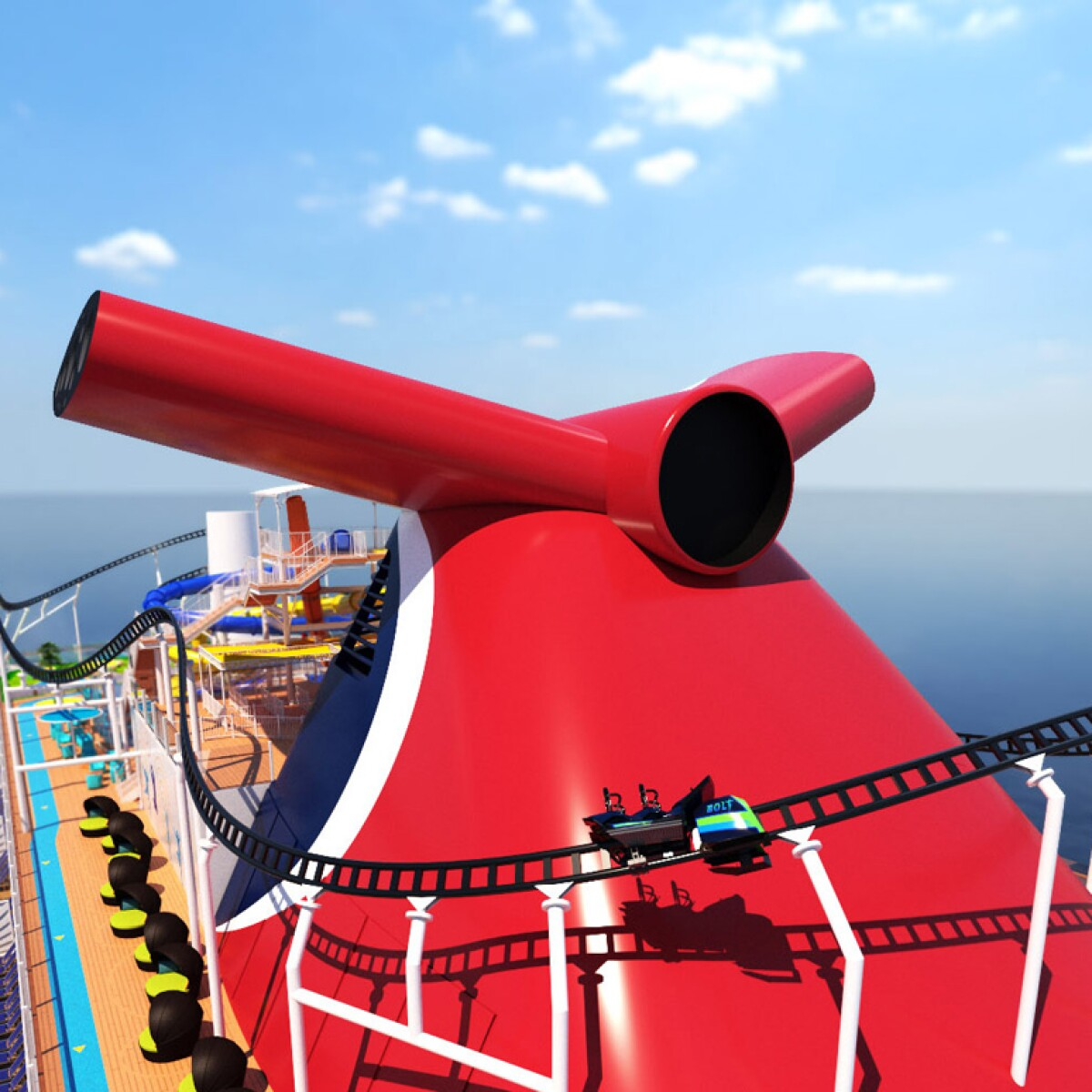 Carnival Announces Roller Coaster On New Cruise Ship