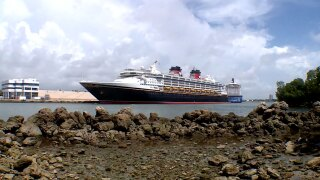 Disney cruise ship at Port Everglades