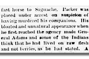 Alferd Packer_Suspicion of eating flesh not berries_Lake City Mining Register_1883-03-23 2.png
