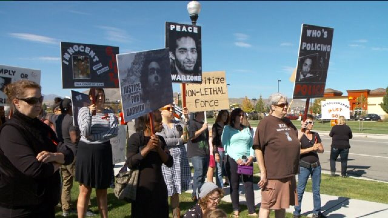 Protesters call for change in wake of fatal shooting of Darrien Hunt