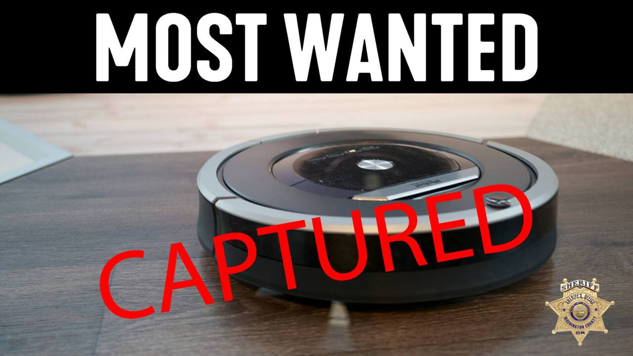 Oregon police officers respond to burglary call with guns drawn only to find a trapped Roomba