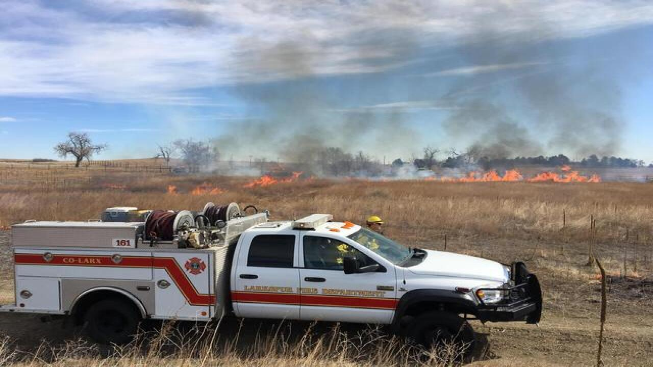 Prescribed burn at Rocky Mountain Arsenal today