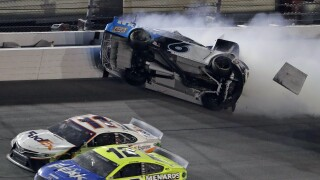 NASCAR's Daytona 500 ends with dramatic car crash