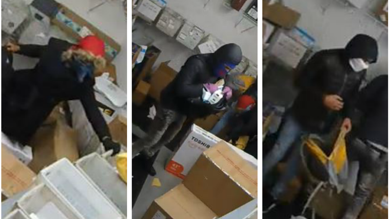 Video shows trio stealing packages from Richmond apartmentmailroom