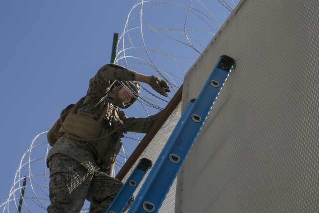 Military photos show troops at work in Otay Mesa
