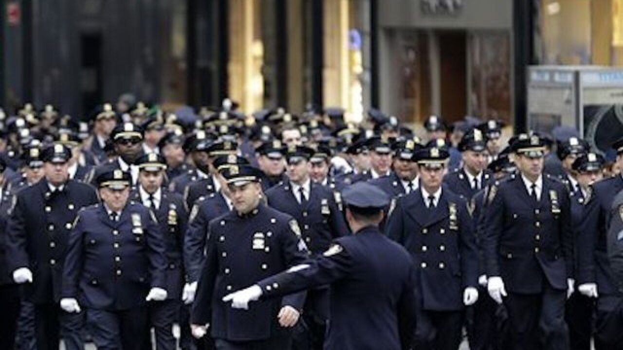 NY streets lined for funeral of fallen soldier