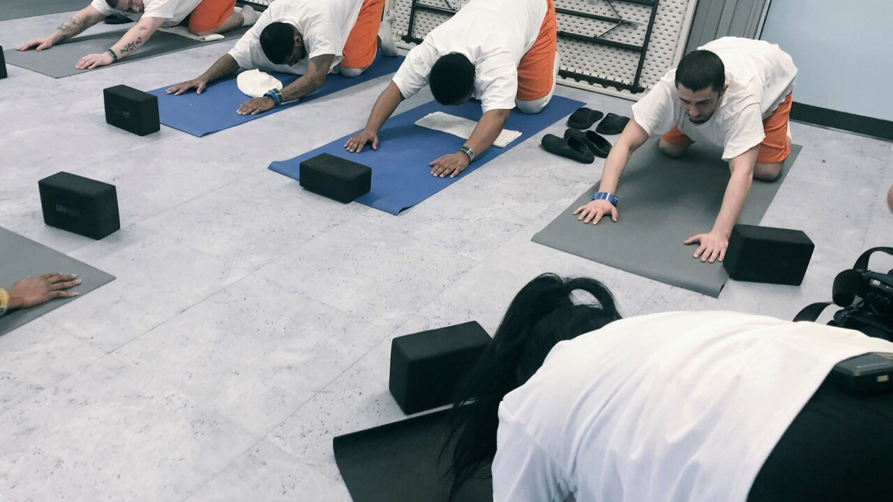 Norfolk Jail has inmate yoga classes to prevent repeat offenses