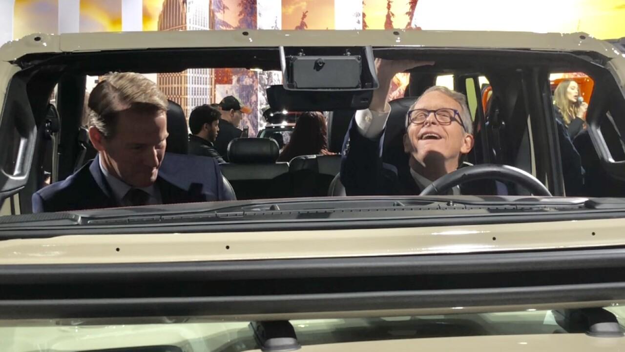 Mike DeWine at Detroit Auto Show