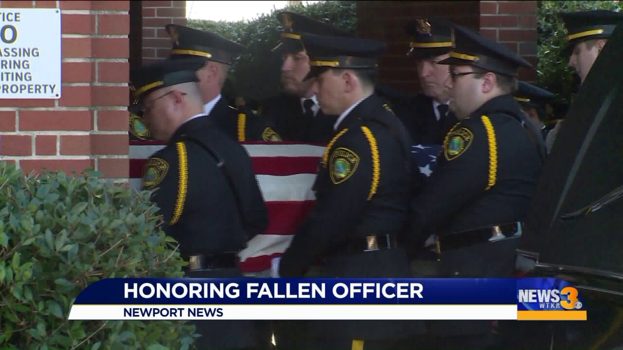 As fallen police officer's casket is brought home, fellow officers reflect on her life following police procession