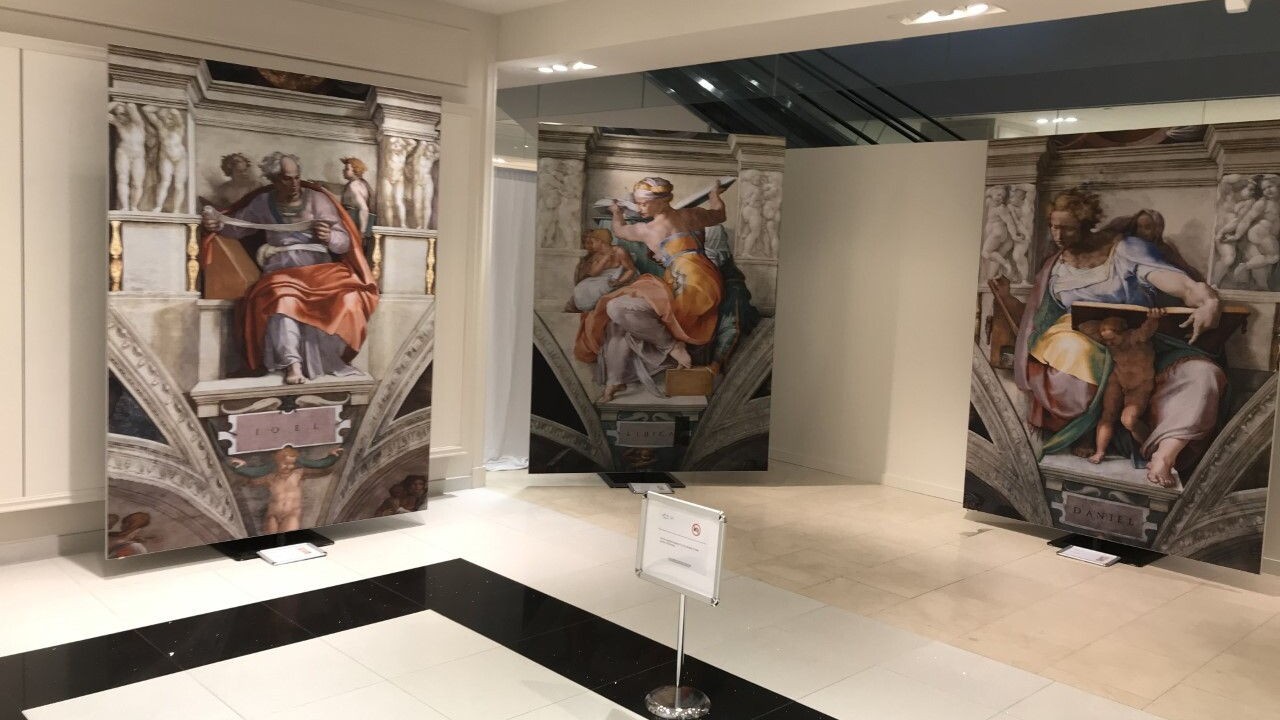 """Michelangelo's Frescoes of the Sistine Chapel"" gives up close look at famous artist's masterpieces"