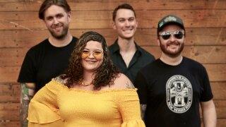 Cincinnati singer Xzela and her band