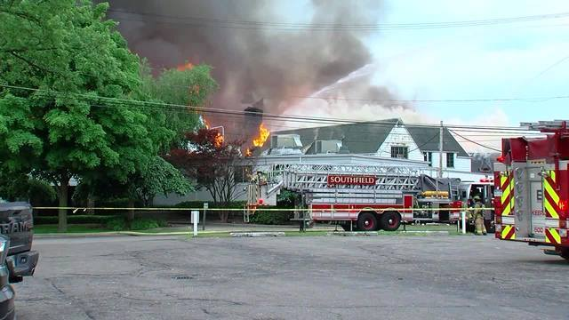 PHOTOS: Massive fire at Western Golf and Country Club in Redford Township
