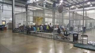 Immigrant Kids Seen Held In Fenced Cages At Border Facility