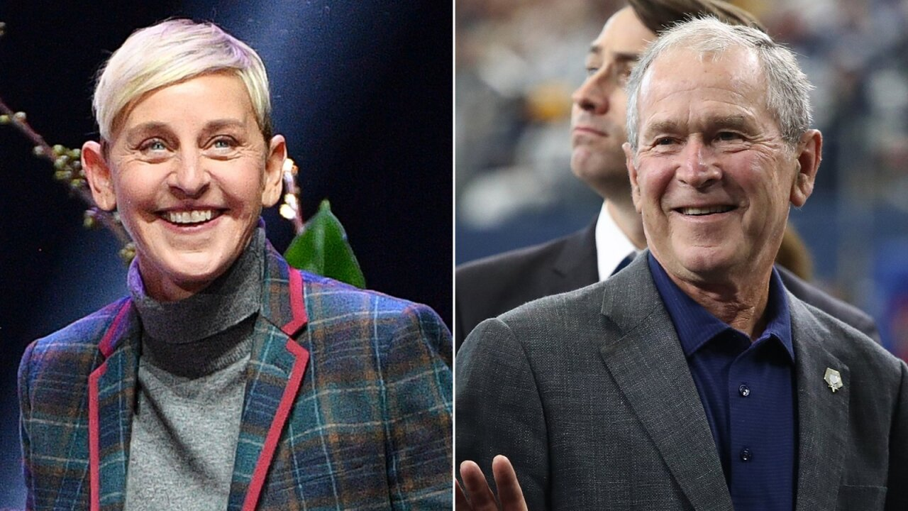 Ellen DeGeneres defends hangout out with friend George W. Bush
