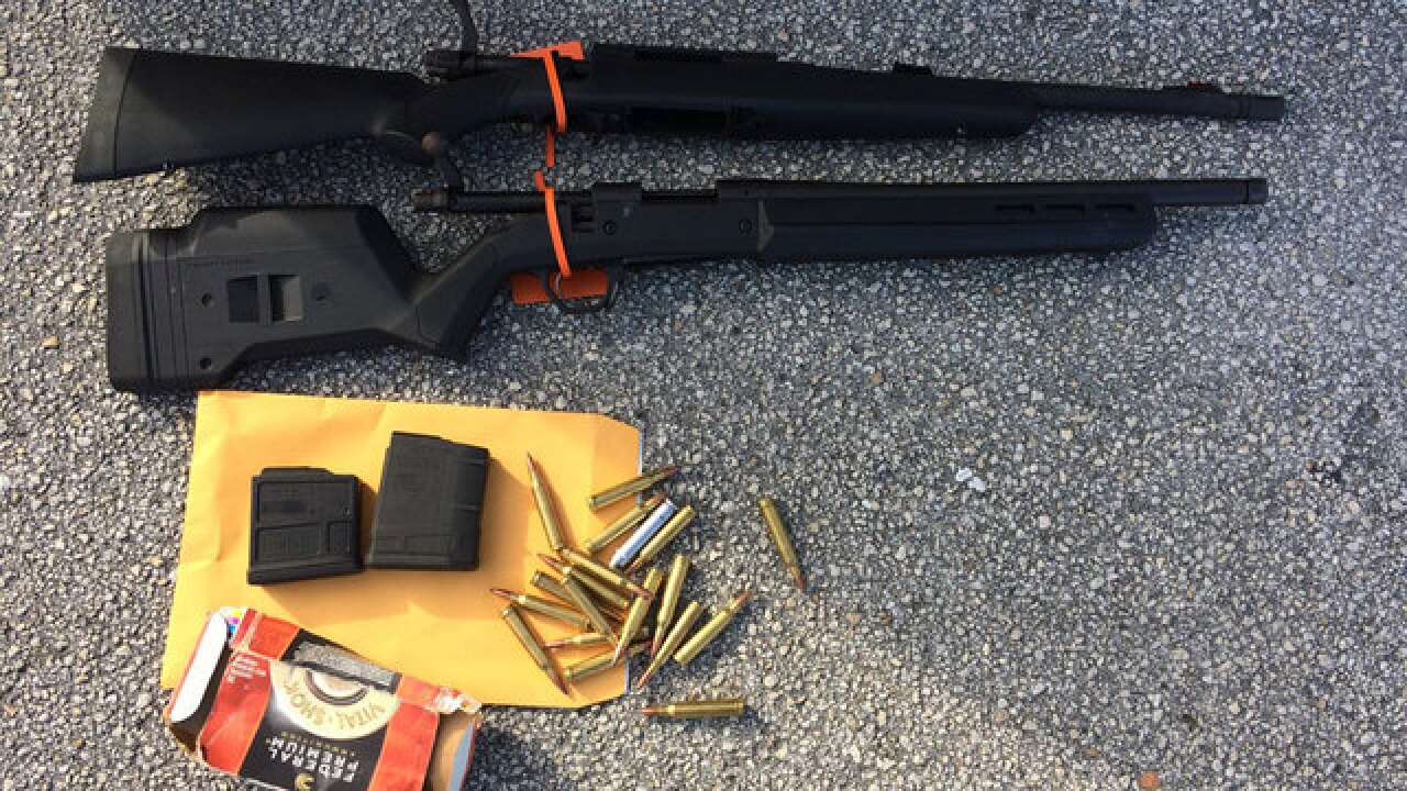 Suspect arrested in theft of rifles, ammo