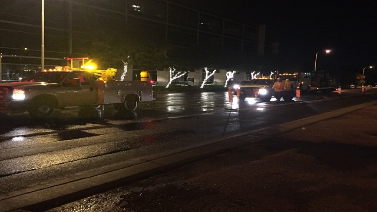 Water main break restricts traffic near Biltmore