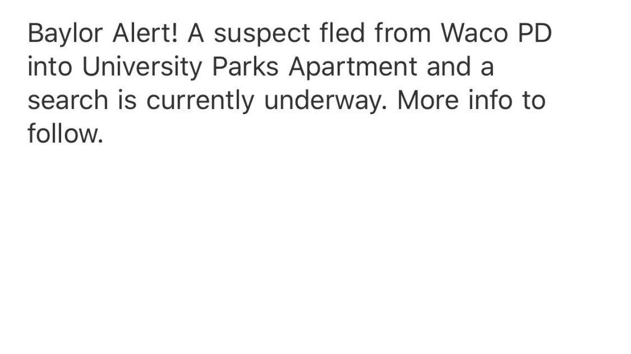 Suspect who led police on manhunt near Baylor University identified