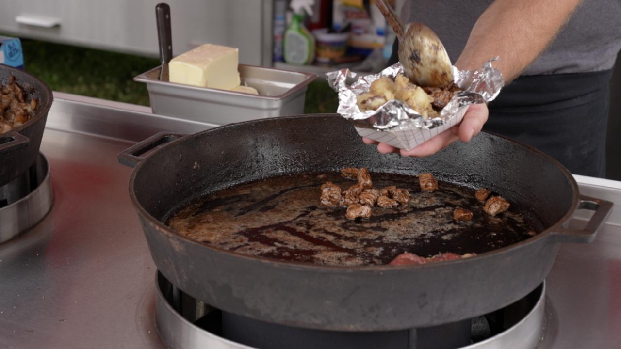 Steak tips at the fair