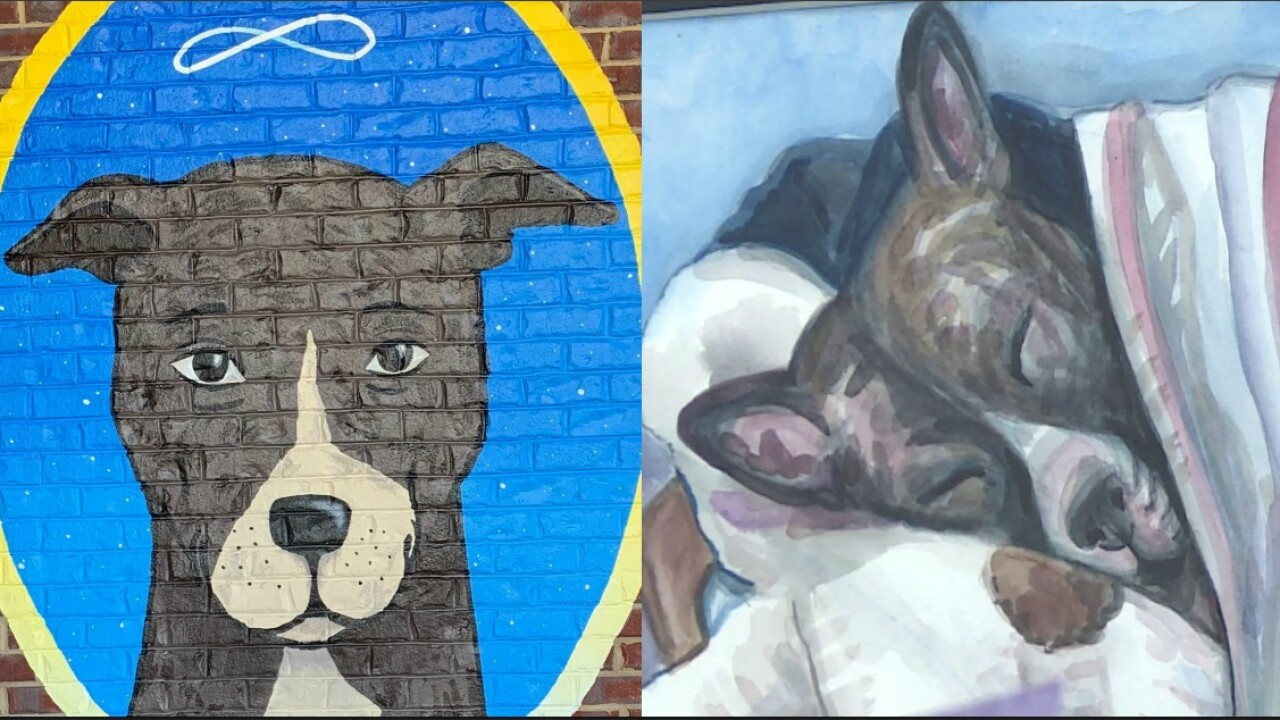 Mural honors Tommie, dog set on fire in Richmond park