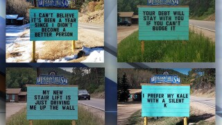 Meet the man behind the viral, punny community sign in Indian Hills