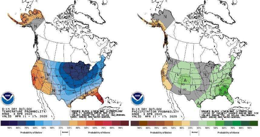 Climate Prediction Center NOAA 8-14 Day Outlook