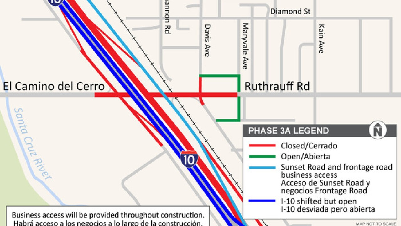 A major traffic switch is coming to Interstate 10 near Ruthrauff Road Friday, Nov. 20.