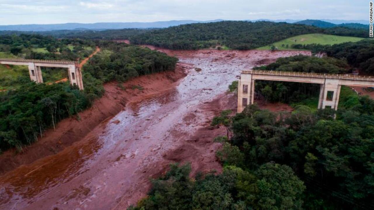 34 dead and hundreds missing in Brazil dam collapse, fire department says