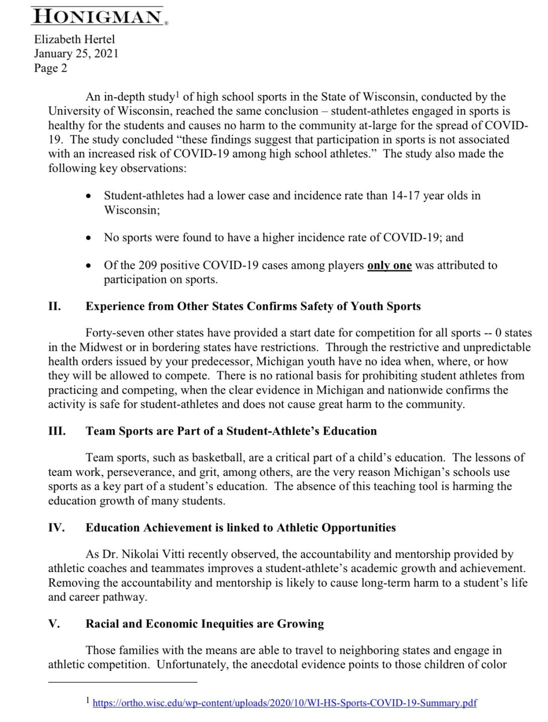 Page 2 of 'Let Them Play' lawsuit