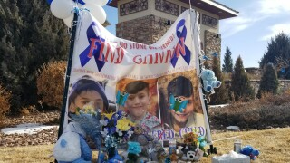 A memorial was set up Monday for Gannon Stauch, the same day the El Paso County Sheriff's Office said his stepmother, Letecia Stauch, was taken into custody in Myrtle Beach, South Carolina.