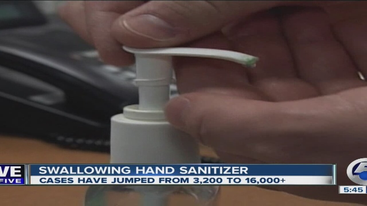 Kids drinking hand sanitizer raises concern
