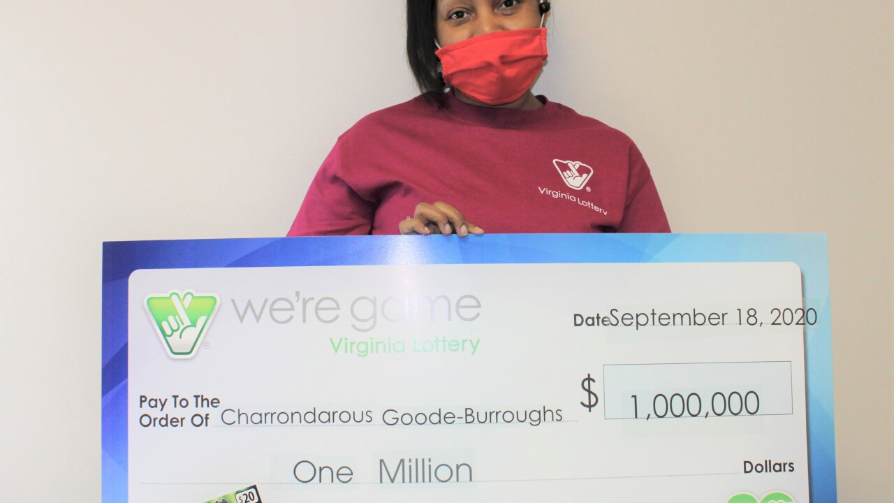 richmond woman wins 1 mill lottery scratcher