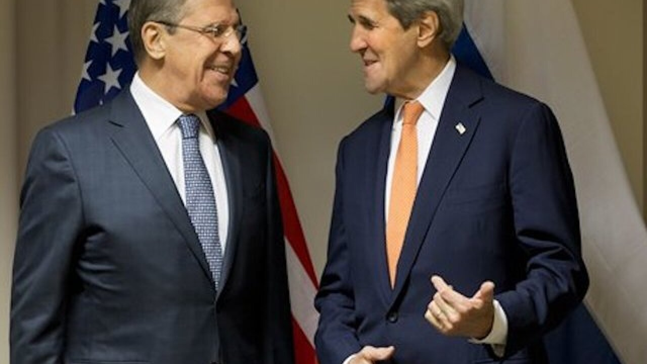 Kerry, Russian minister try to resolve issues