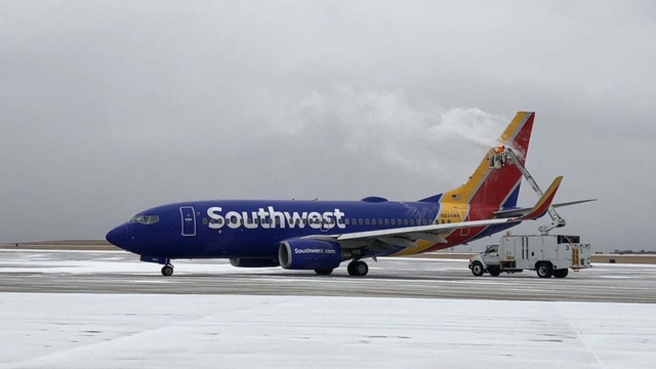 KCI team tackles icy runways so planes can takeoff