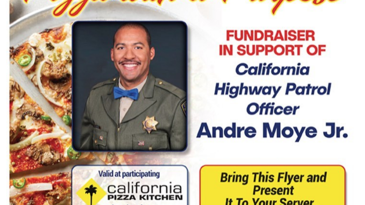 "California Pizza Kitchen's ""Pizza with a Purpose"" raising support for CHP fallen officer"